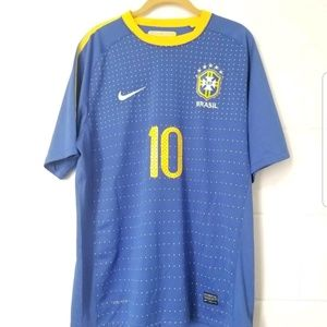 Nike Dri-Fit Brasil Neymar 10 CBF Soccer Jersey L